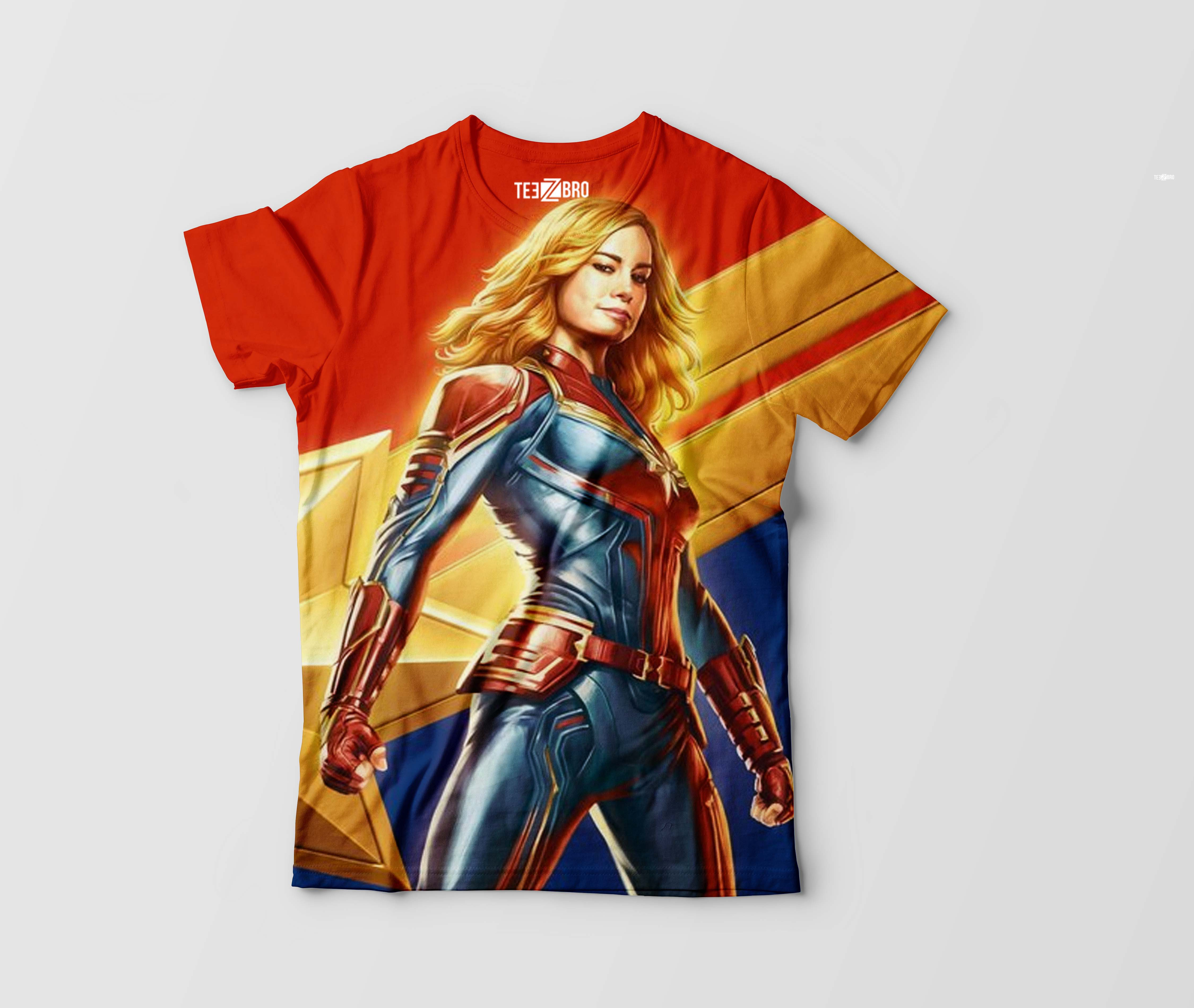61553ddd Captain Marvel Graphical Tshirts - Teez Bro